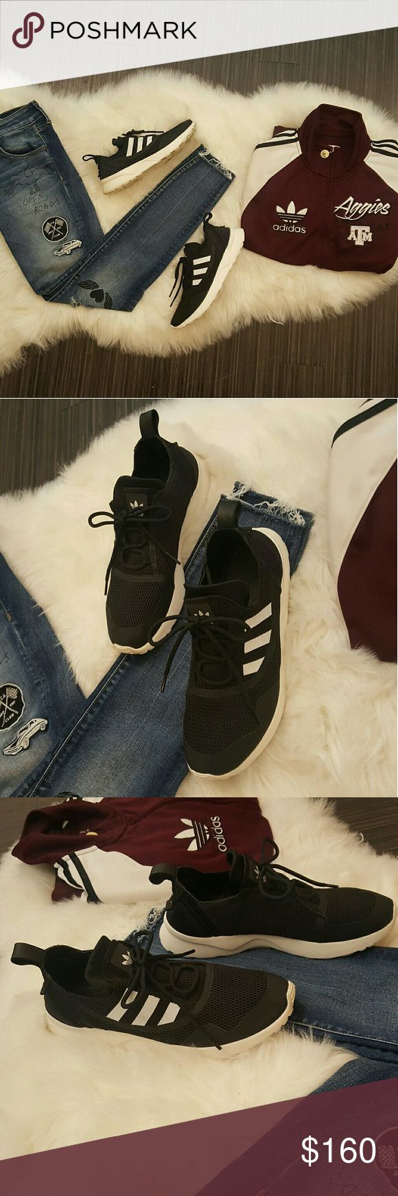 ❤ MAKE OFFER❤Adidas ZX FLUX Adv Virtue Sneakers! Women's size 7.5   Brand new condition! Only worn once!  Classic adidas three stripes, very comfortable!   Super cute and a staple in any wardrobe! adidas Shoes Sneakers