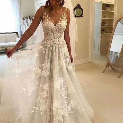2020 Best Beautiful Lace Non White Wedding Dresses – toolcloth #backlessweddingdress