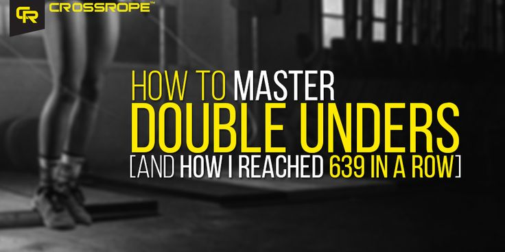 Want to learn how to do double unders? I want to show you a simple double under program I used to get to 639 double unders in a row. Just follow along and learn!