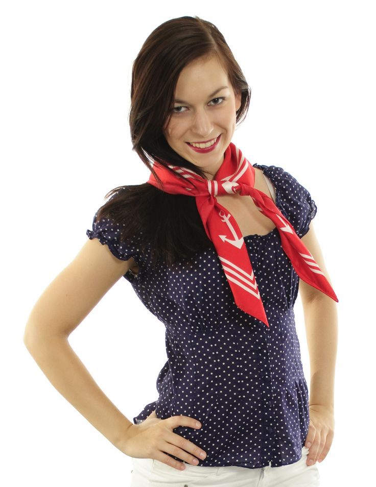 Red silk #scarf, A Piece of Chic