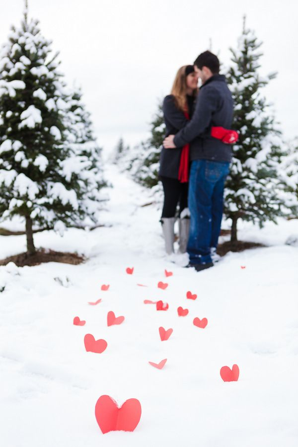If it snows this weekend. :) There's a cute picture of this couple having a snowball fight too. :)