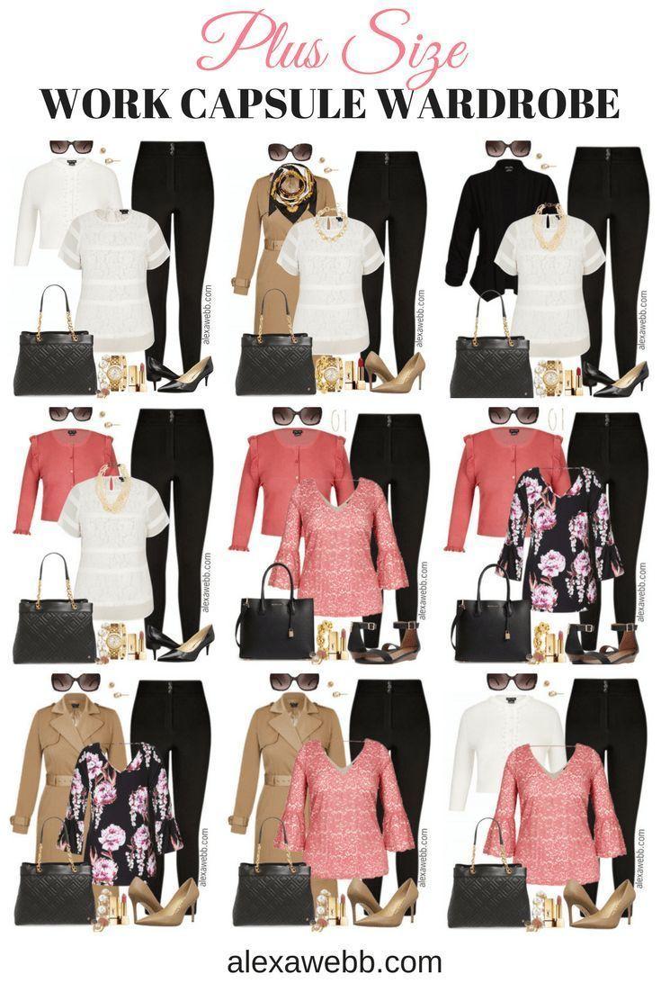 1d602a9bfb60 Plus Size Work Capsule Wardrobe - Plus Size Work Outfit Idea - Plus Size  Fashion for Women - alexawebb.com #plussize #alexawebb
