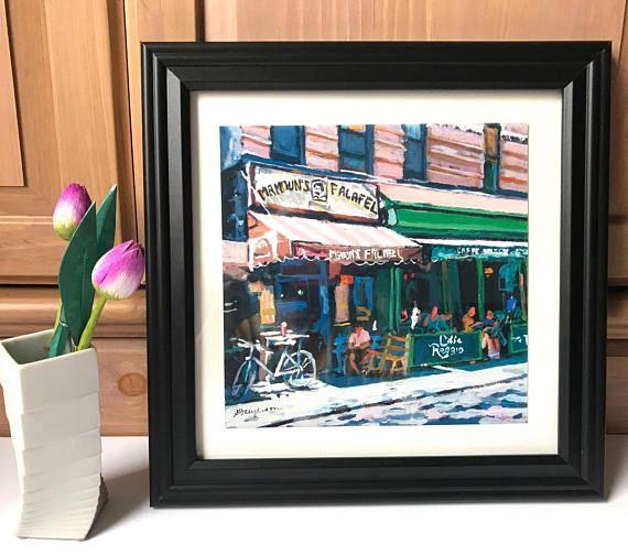 Cafe Reggio Mamouns Falafel. MacDougal Street New York Art
