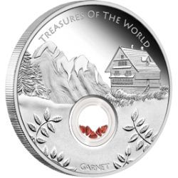 Treasures of the World � Europe 2013 1oz Silver Proof Locket Coin with Garnet #AVeryMintChristmas    My husband both have European backgrounds and we married in 2013. The garnets symbolise passion, fidelity, loyalty, faith and truth. Perfect representation of our marriage,