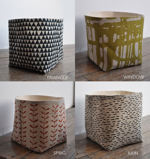 storage boxes from bookhouathome on etsy