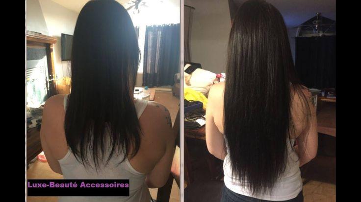 """100% natural black hair extensions  Keratin 130grams   Extensions de cheveux 100% naturel 22"""" kératine 130grammes   https://m.facebook.com/luxebeauteaccessoires/"""