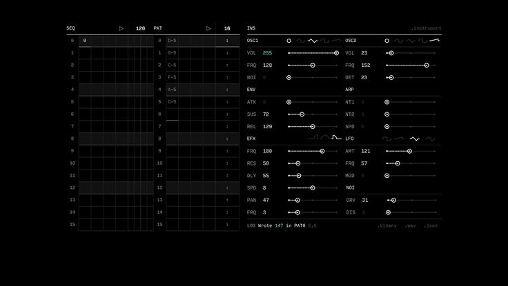 Marabu — HTML synth music tracker/editor