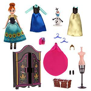 Disney Anna Wardrobe Doll Play Set | Disney StoreAnna Wardrobe Doll Play Set - Bring Frozen Fever to life with this Anna Wardrobe Doll Play Set. The 5'' Anna doll comes with three outfits, a wardrobe, and plenty of accessories to keep her looking her best through summer and winter.
