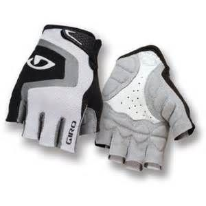 Giro Bravo Cycling Gloves White/Grey/Black