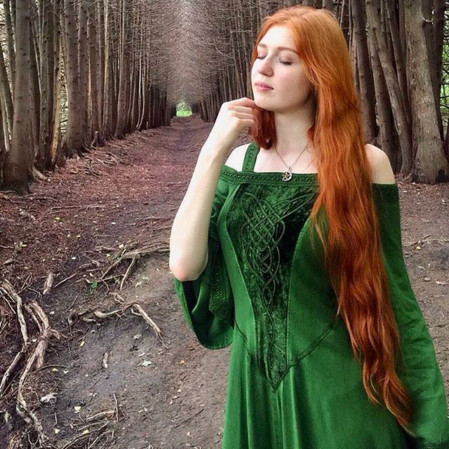 #Celtic Dress. Be the star of your own fairy tale in Aisling. From Renaissance Fairs to weddings and musical events, Aisling inspires. Butter-