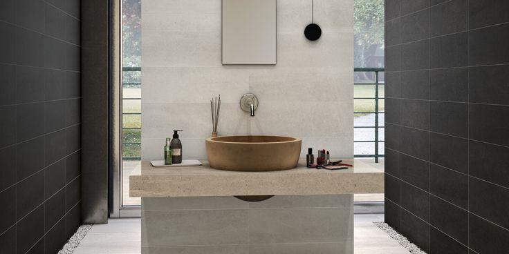 Une collection s'inspirant de la pierre calcaire avec des nuances chaudes et froides, elle s'intègrera de façon originale à votre décor contemporain.