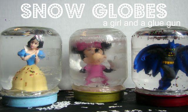 snow globe - A girl and a glue gun