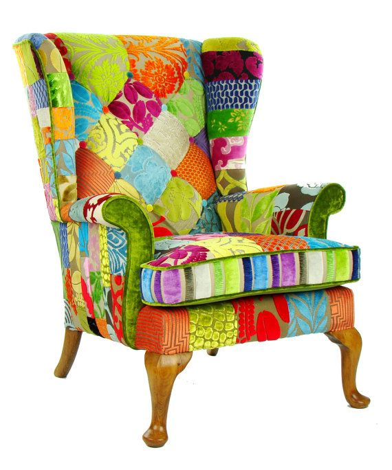 Patchwork Parker Knoll Armchair Designers Guild by JustinaDesign