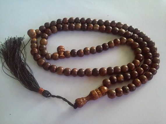 Agarwood 99 Muslim Prayer Beads TasbihTasbeeh Subha by barustore