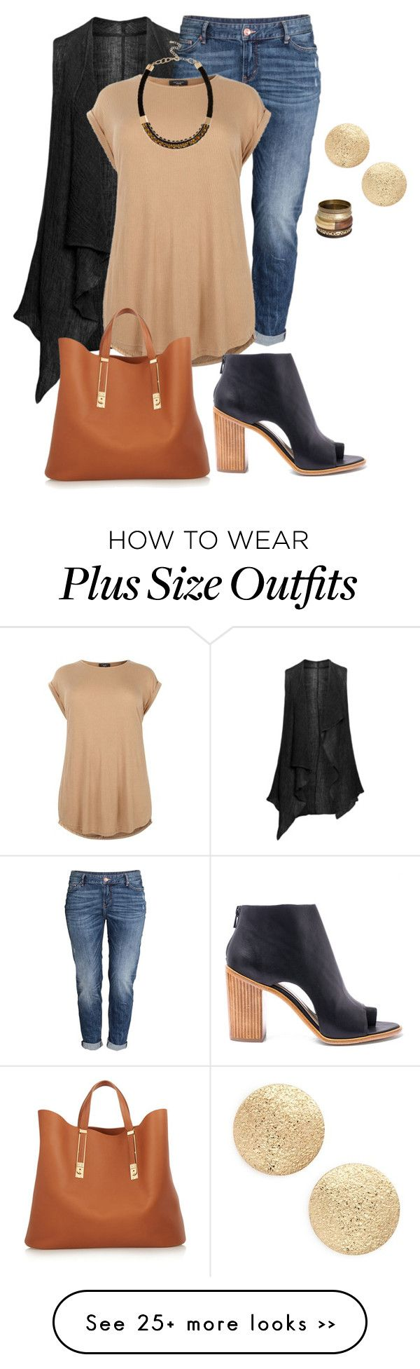 """plus size fall chic"" by kristie-payne on Polyvore featuring Isolde Roth, H&M, Loeffler Randall, Nordstrom, River Island and Sophie Hulme"
