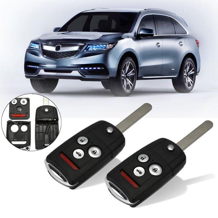 2Pcs 31 Buttons Remote Flip Car Key Fob Shell Case W