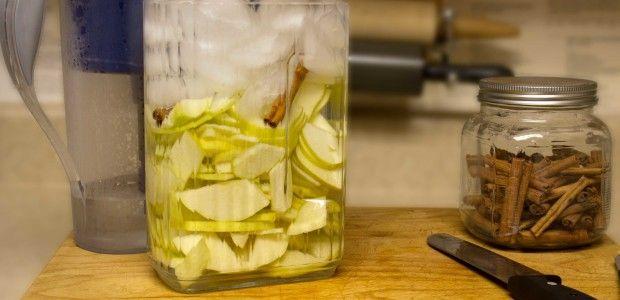 Bebida de manzana y canela