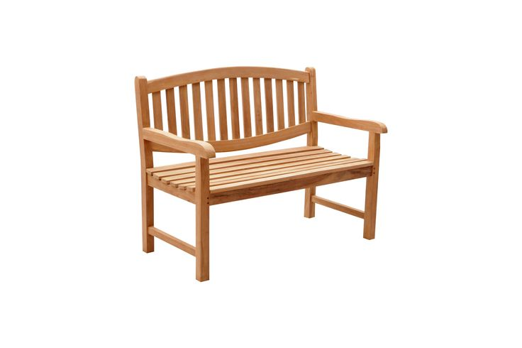 Teak outdoor furniture - Oval back bench comes in 120cm, 150cm and 180cm
