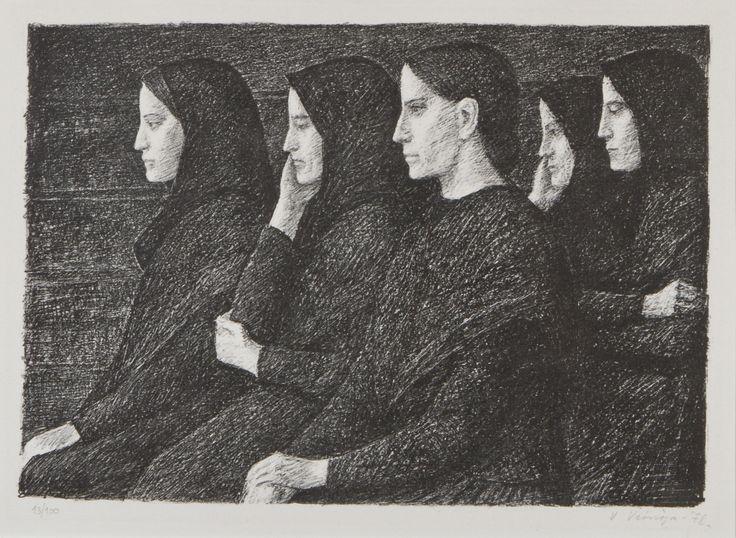 Veikko Vionoja, 1978, litografia, 40x54 cm, edition 13/100 - Hagelstam A136
