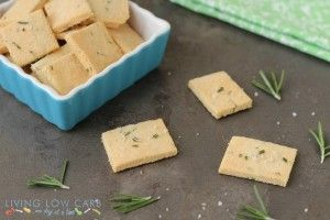 GF Rosemary and Sea Salt Crackers - Living Low Carb One Day At A Time