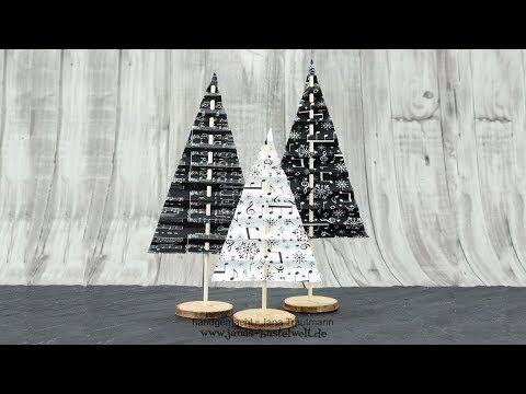 Tutorial: Deko-Tannenbaum aus Designerpapier - YouTube