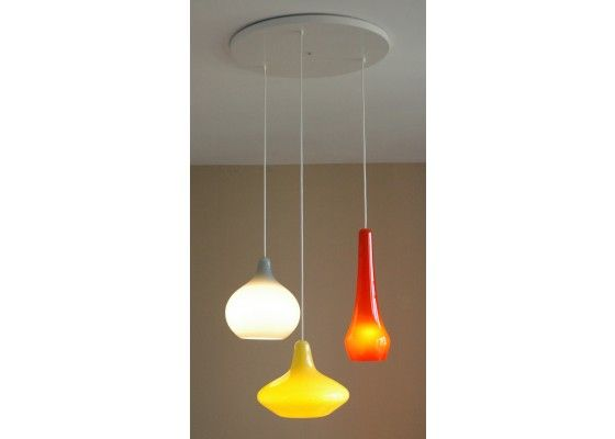 Holmegaard style glass chandelier from Iconic Lights