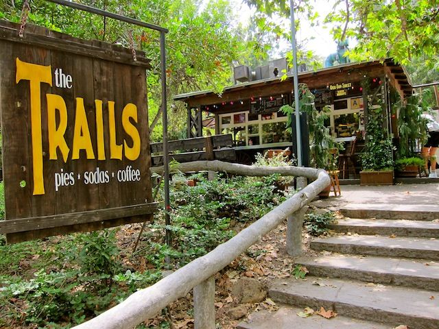 The Trails Cafe at Griffith Park, a great place to go after a hike w/ your hiking buddies, dogs, kids, or special someone.