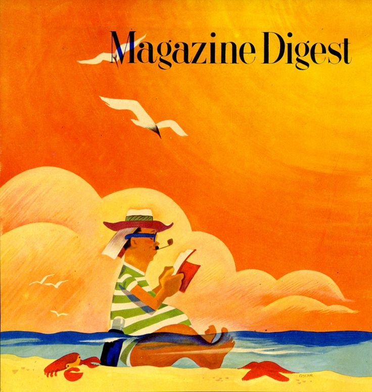 In late 1944 Oscar Cahén moved to Toronto to become art director for Magazine Digest.  Magazine Digest cover design, c. 1946, printer's proof, The Cahén Archives.