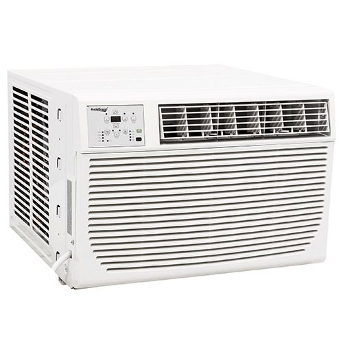 Get comfortable no matter what the season with the Koldfront 8,000 BTU Window Heat / Cool Window Air Conditioner with Remote: an efficient dual heating and cooling window unit with digital display and energy-saving features