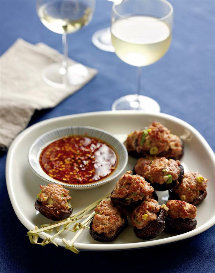 Stuffed shiitake mushrooms by Jane Kennedy from OMG! I Can Eat That?   Cooked