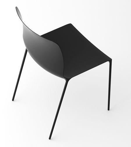 sleek carbon fibre chair