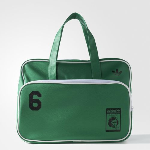 Main compartment with zipper; Front zipper Two handles Lining polyester; plastic hardware Beckenbauer imprinting logos and Trefoil Dimensions: 12 cm x 28 cm x 38 cm Imitation Leather, 100% polyurethane…