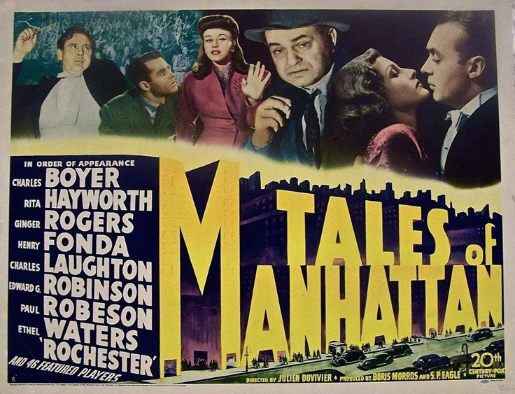 Image result for tales of manhattan film poster