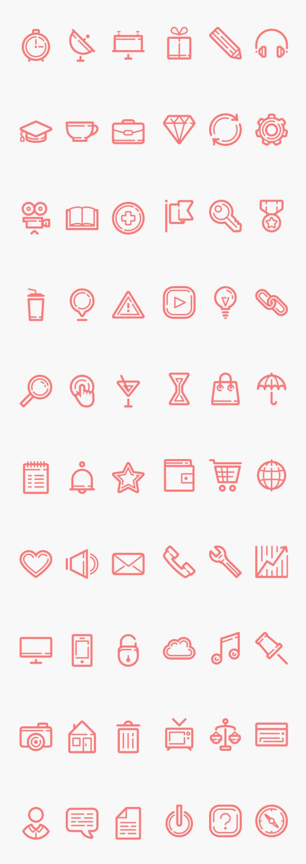 Double Line Icons