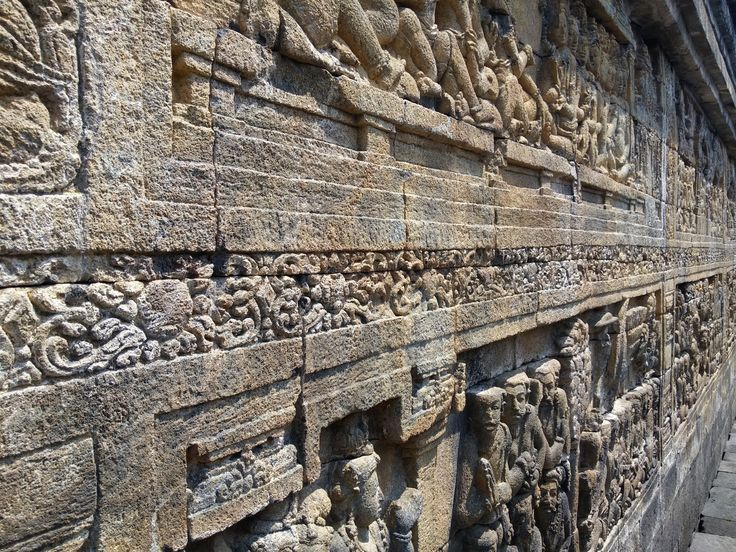 Muurreliëf bij Candi Borobudur