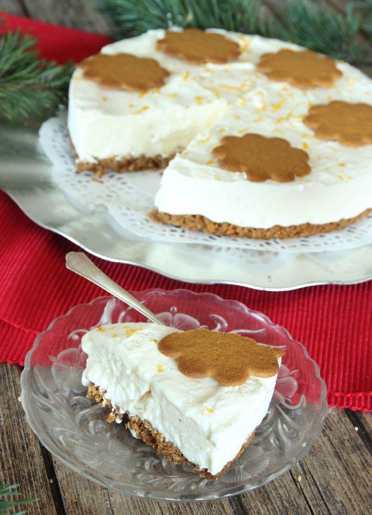 En underbart god cheesecake med smak av pepparkaka och vit choklad – riktigt juliga, härliga smaker som passar perfekt ihop! Recept steg-för-steg i bloggen!
