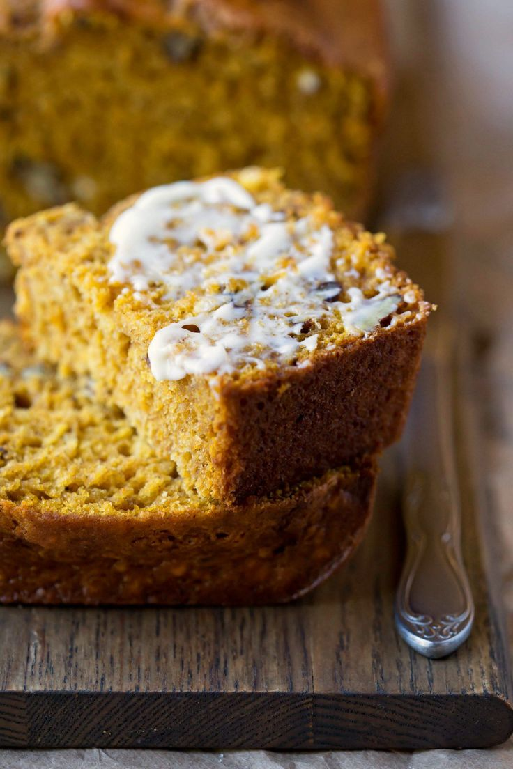 Buttermilk Pumpkin Spice Bread - recipe uses buttermilk to keep it moist so it's not heavy and oily!