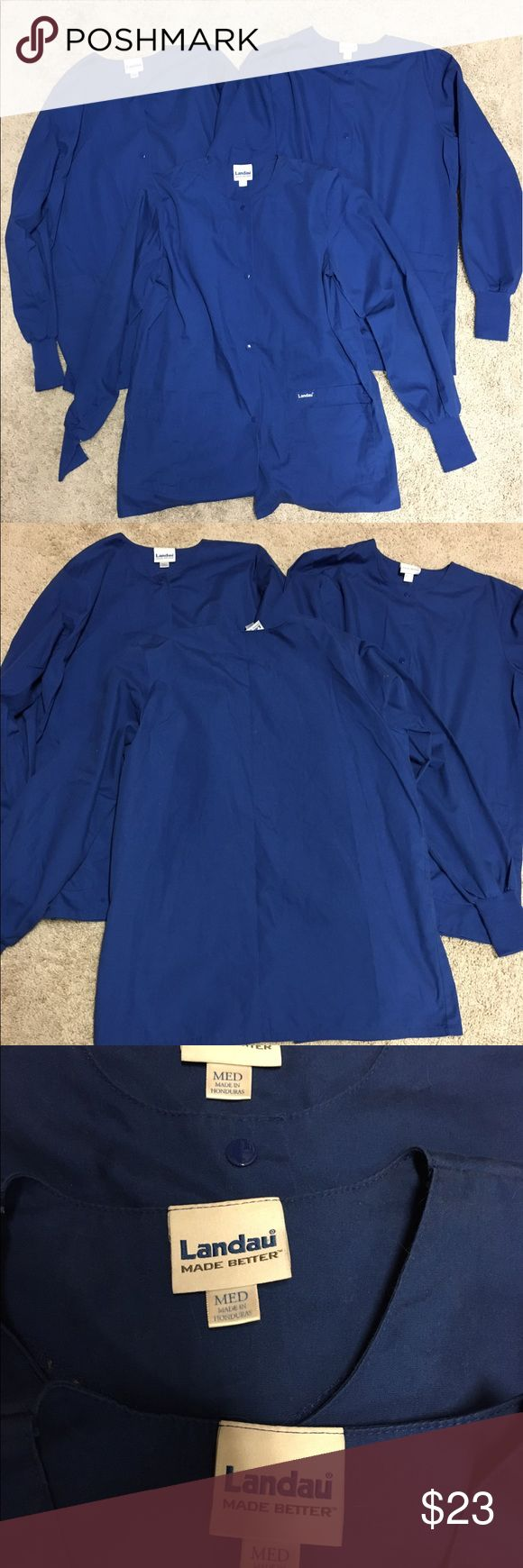 (3) Indigo Blue | Landau Scrub Tops EUC Landau Jackets & Coats