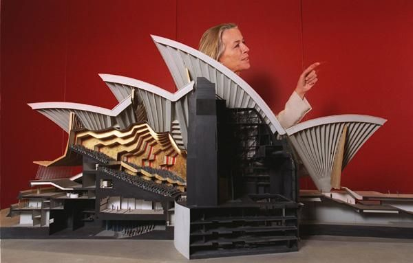 An original model of the Sydney Opera House byJoern Utzon was handed over by his daughter Lin Utzon at a ceremony inside the Opera House.