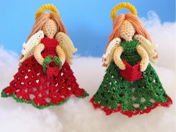 BellaCrochet: The Littlest Angel Christmas Ornaments: A Free #Crochet Pattern for You