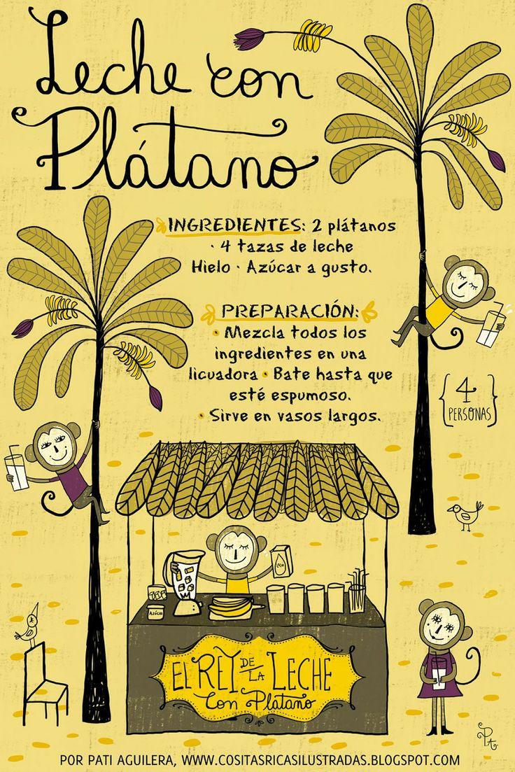 Cositas Ricas Ilustradas por Pati Aguilera - Leche con Platano - Chile