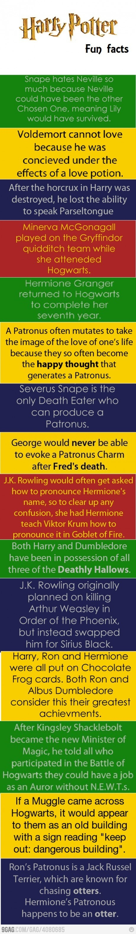 Harry Potter Book Facts : Harry potter fun facts i love books pinterest