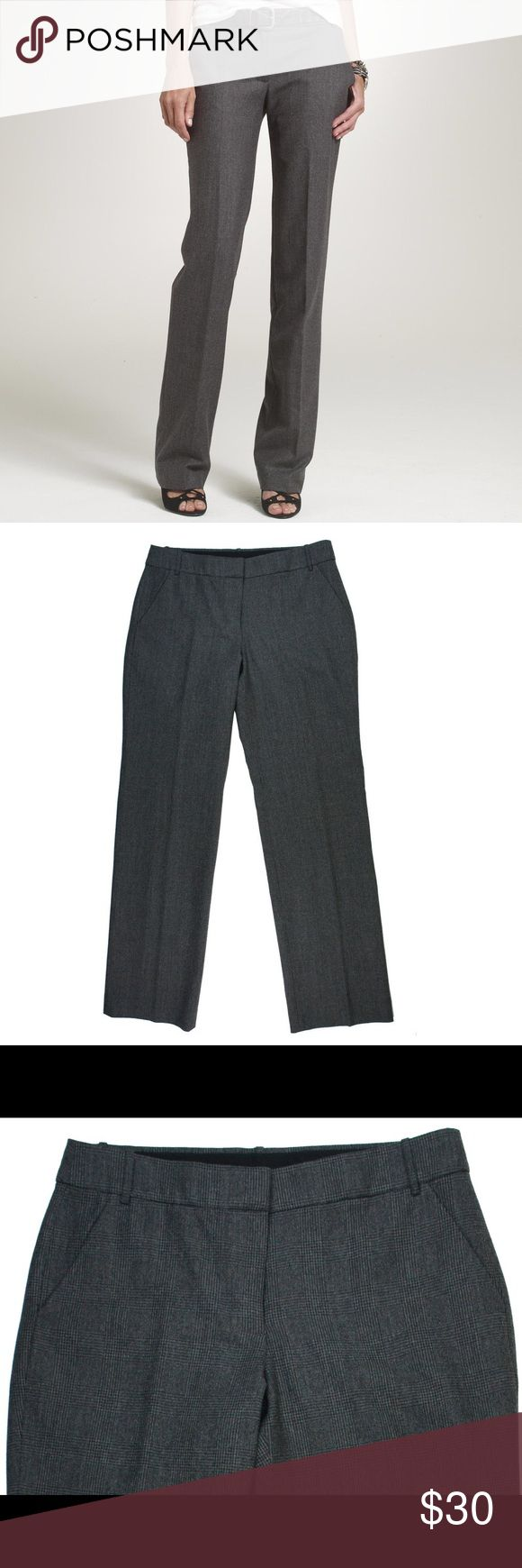 """JCREW Favorite Fit Gray Plaid Wool Trouser Pants Great condition! These gray plaid trouser pants from JCREW feature a zip tab closure and are fully lined. Made of a wool blend. Measures: waist: 31"""", rise: 8"""", hips: 40"""", inseam: 30"""" J. Crew Pants Trousers"""