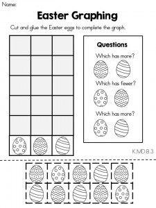 Easter Kindergarten Math Worksheets