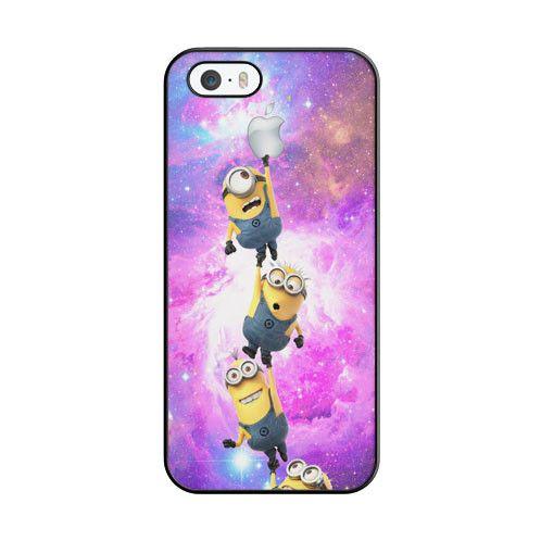 Minion Catching Apple On Nebula iPhone 5 5S Case