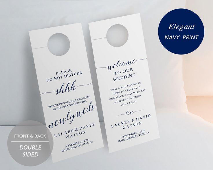 Více než 25 roztomilých nápadů na téma Wedding door hangers na - do not disturb door hanger template