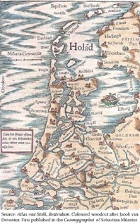 Holland Map in 1554