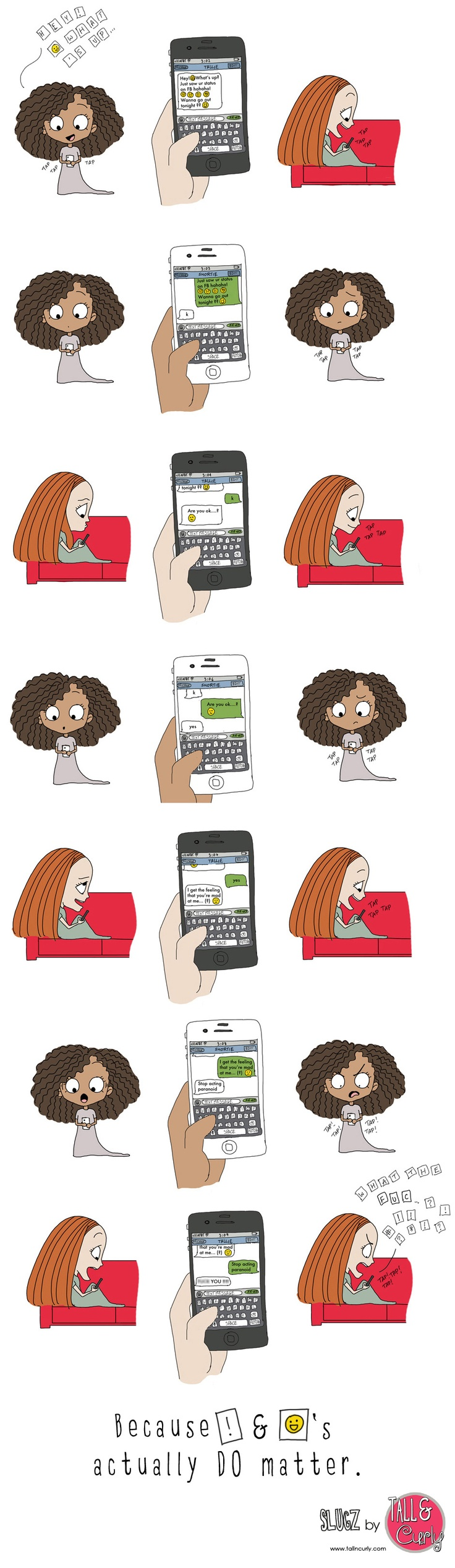 When you put so much enthusiasm in a text message... #comics #textmessage #sms  (Click to enlarge)