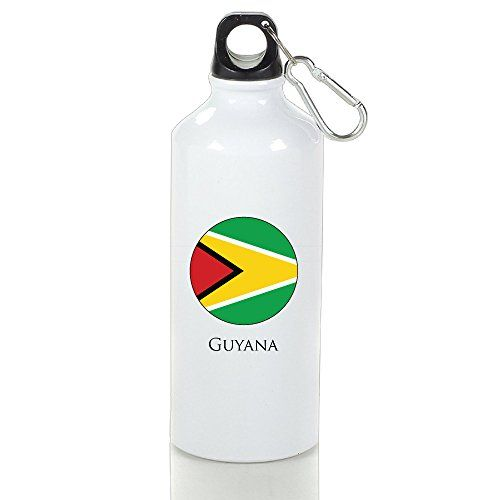 April Guyana Flag Leisure Aluminum Sports Water Bottle (Two Sides Printed) >>> For more information, visit image link.