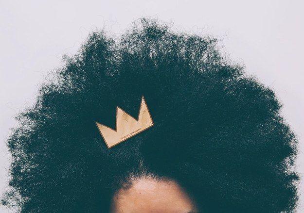 """Adorn"" wooden hair clip by Rachel Stewart, $20"